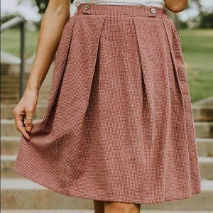 Roolee Budapest Gingham Skirt